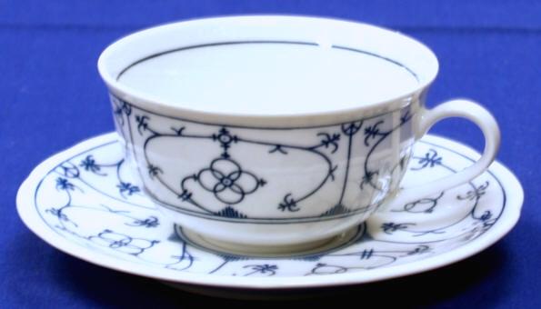 Blattschale Porzellan Winterling indischblau